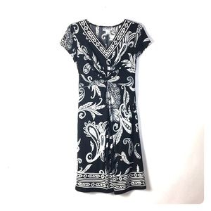 NorthStyle Dress XS Paisley Black White *A